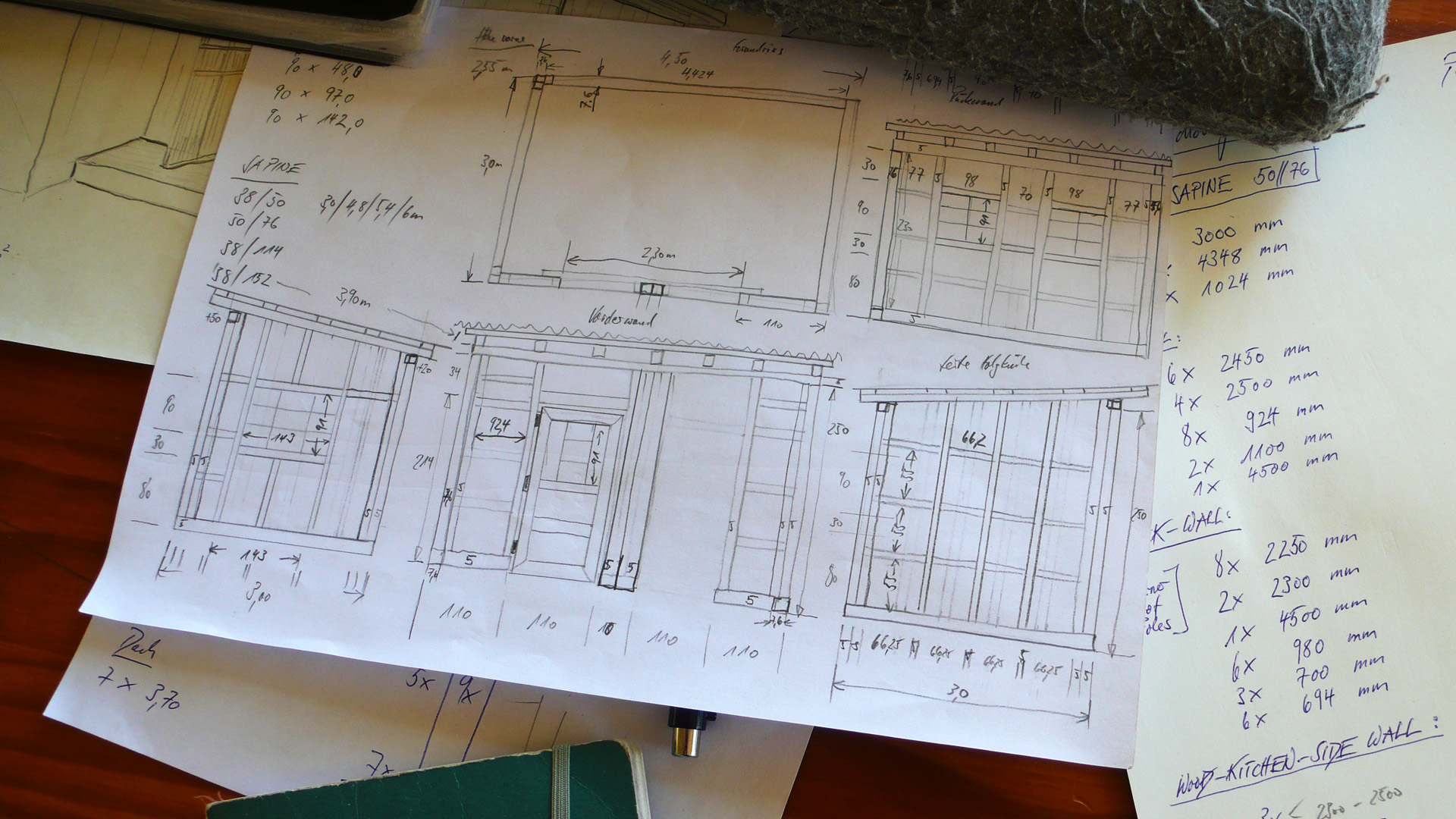 construction drawing of the schoolgarden kitchen