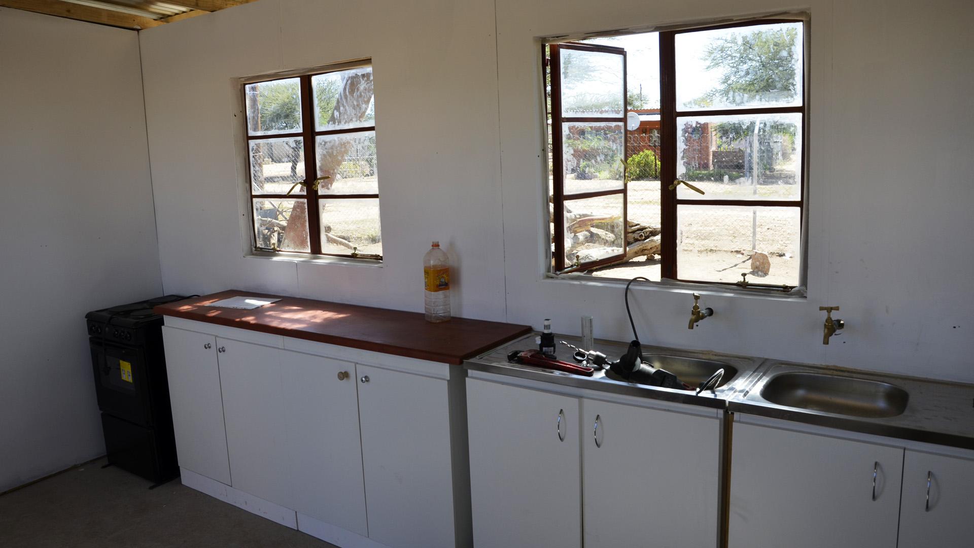 inside the schoolgarden kitchen